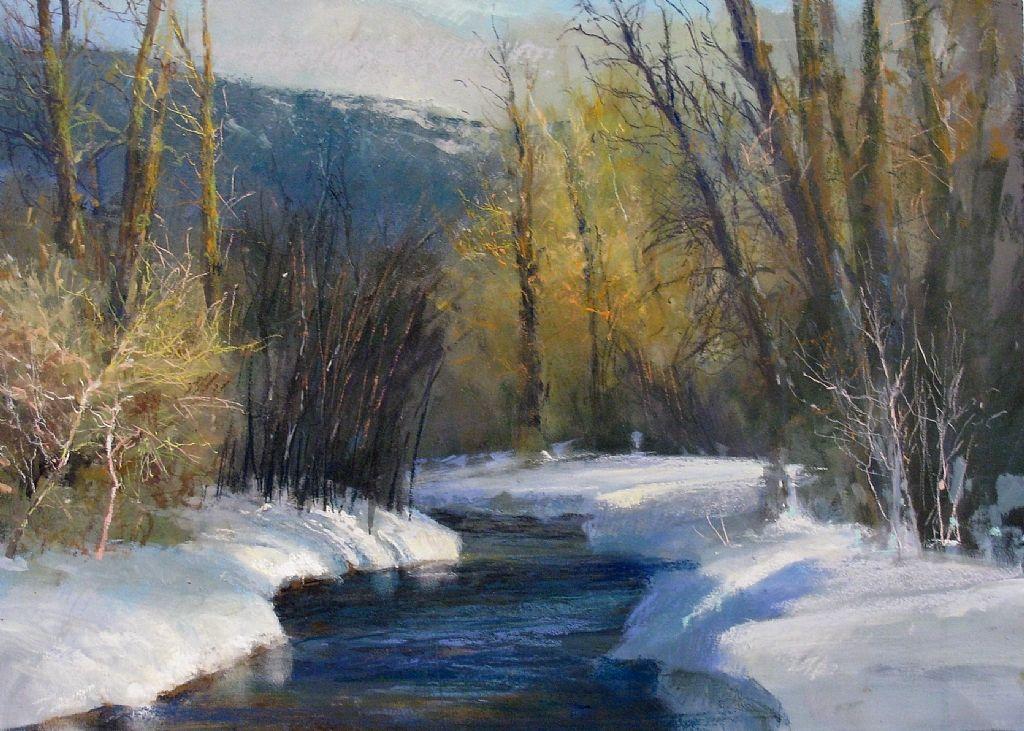 Winter Creek, Victor, Idaho Mobile Artwork Viewer