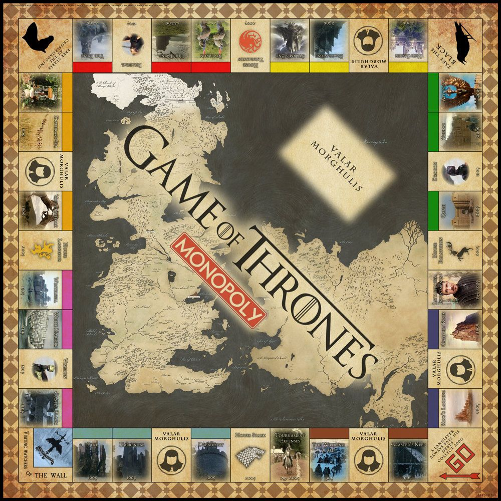 Game Of Thrones Monopoly Digital Copy By Desiren On Etsy 10 00 Game Of Thrones Party Game Of Thrones Gifts Board Games