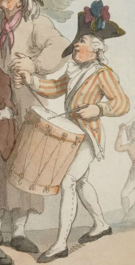 Soldiers recruting Rowlandson 1798 Detail