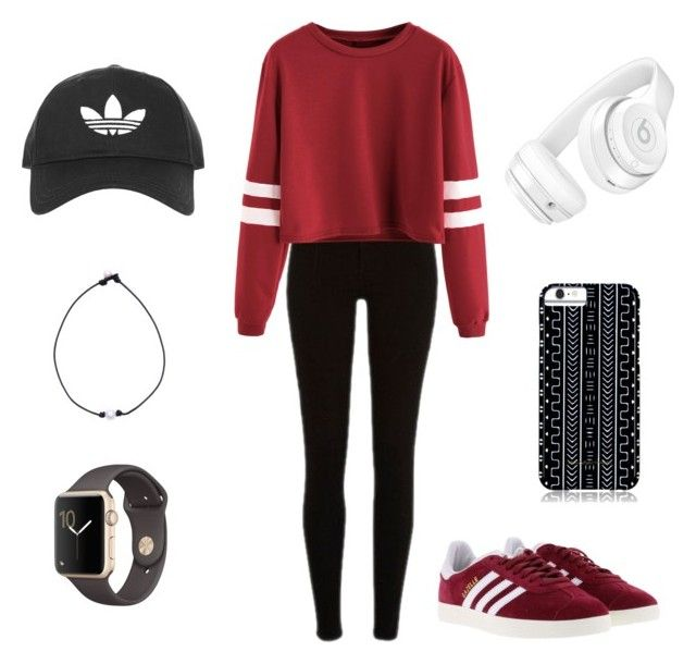 """""""Untitled #56"""" by officalrileyabigale ❤ liked on Polyvore featuring adidas, Beats by Dr. Dre, Topshop and Savannah Hayes"""