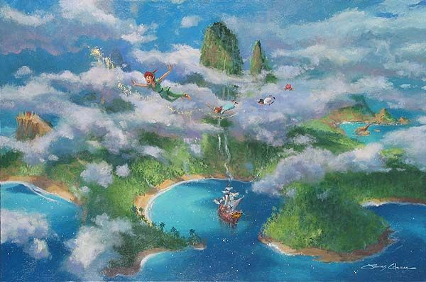 First Look At Neverland Original Painting by James Coleman  #magical #pixiedust