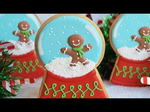 How To Decorate A Snow Globe Cookie - - Very easy to follow video shows you how.