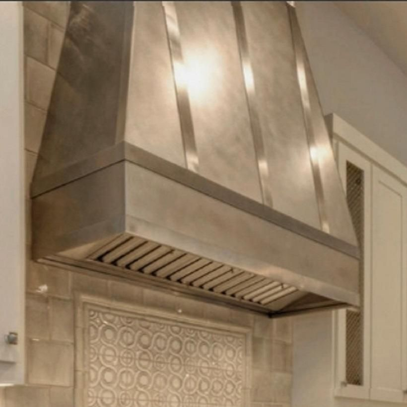 Custom High Kitchen Ciling Zinc Range Hood Tall Ceiling Kitchen Range Hood Zinc Range Hood