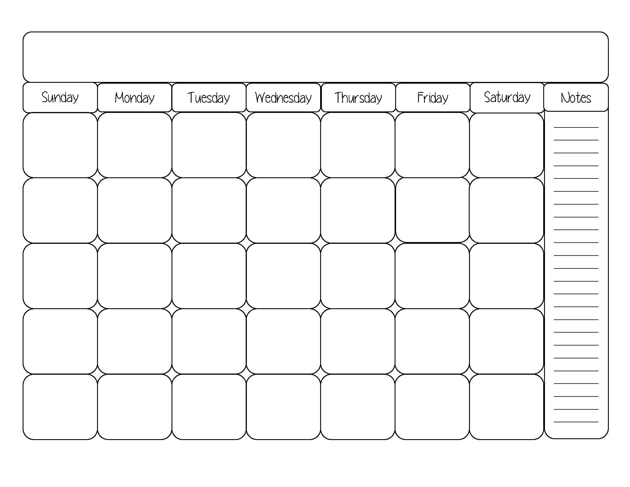 blank calendar template cute printable editable blank | randomness