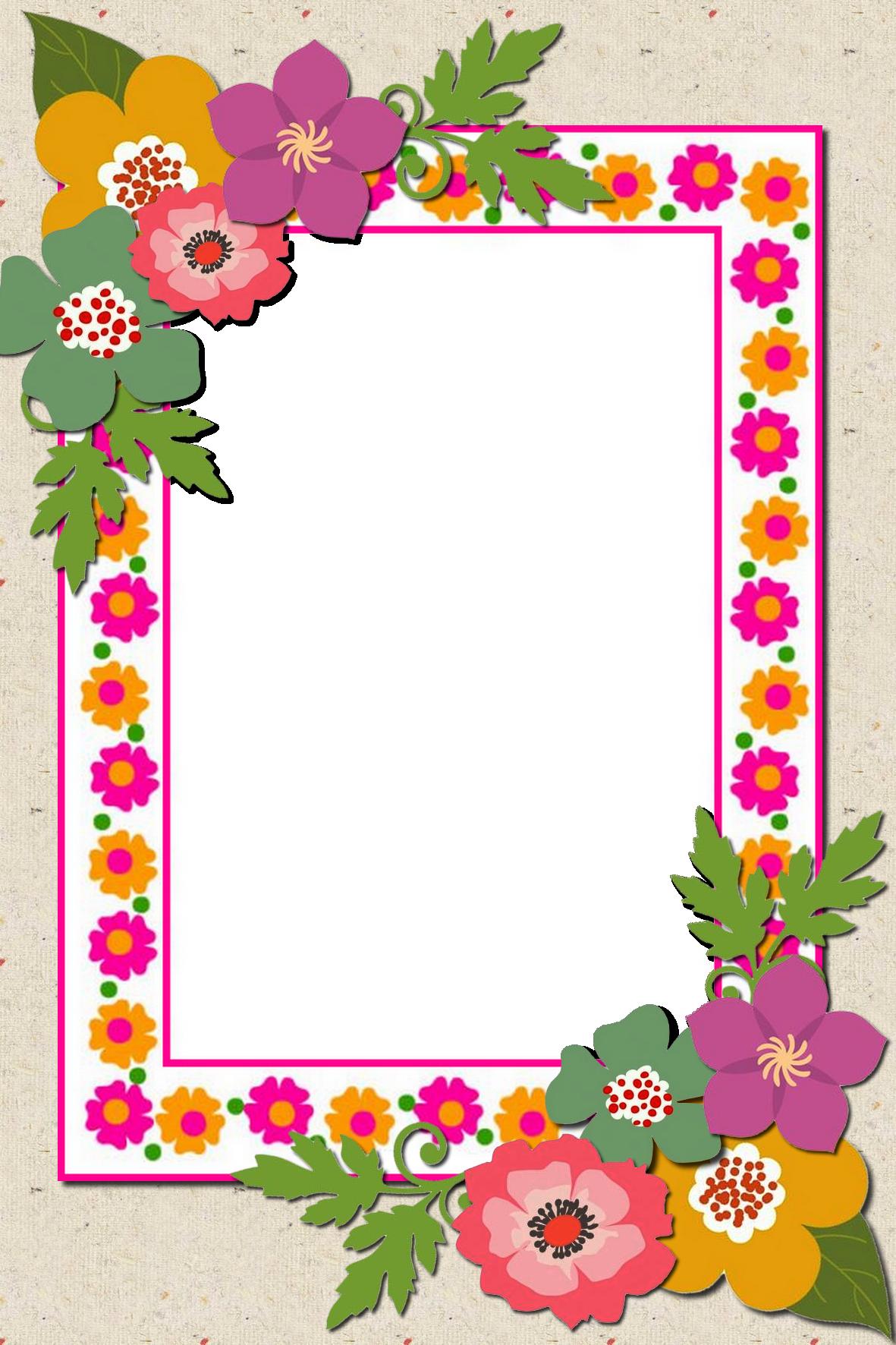 Decorative Png Frame Flower Background Design Colorful Borders Design Frame Border Design