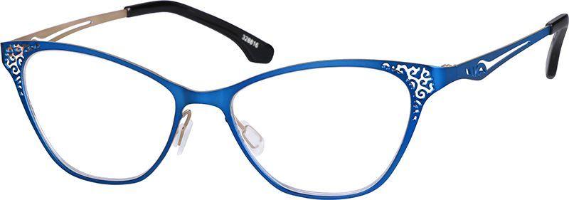 9031187fcda Blue Cat-Eye Glasses  328816