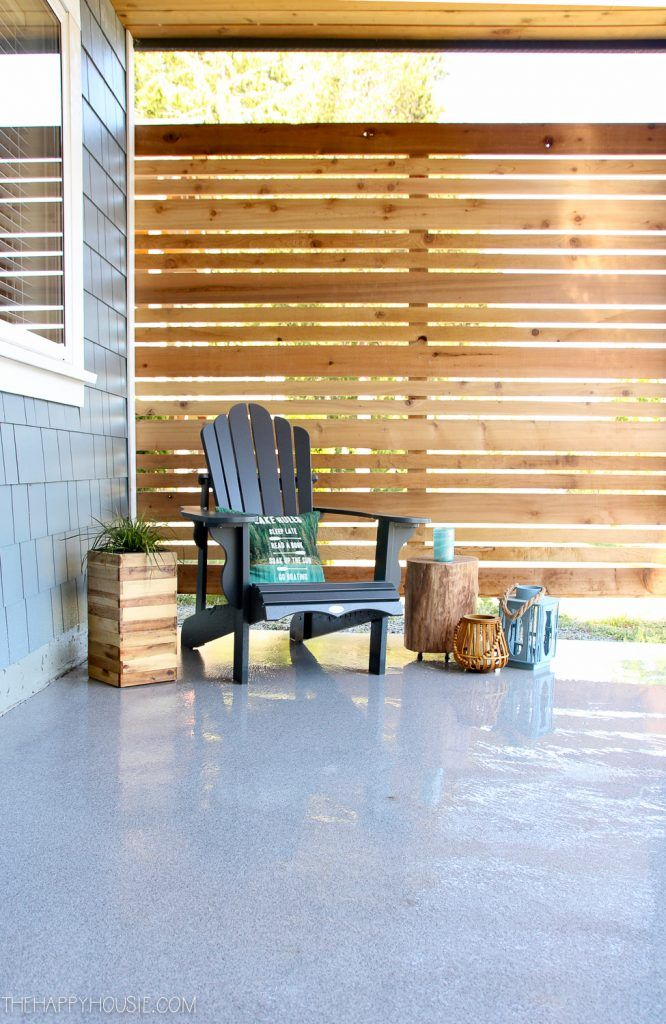 How to Build a DIY Cedar Privacy Screen | The Happy Housie