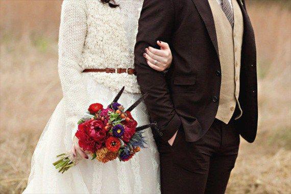 Top 10 Fall Wedding Ideas on a Budget |  #autumn #bestfallweddings #boots #boutonniere #bridecowboyboots #bridesincowboyboots #bridesmaid #cardigan #coffeebar #coffeethemedwedding #convertible #desertrose #fall #fallweddingideas #fallweddingtrends #gold #niapersonbridal #pumpkin #pumpkinspice #red #sunflowers #wedding | Fall Wedding Trends - cardigan