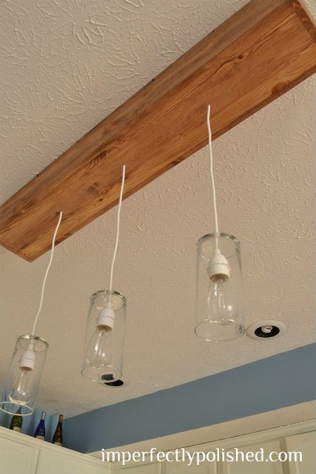 Diy kitchen pendant lighthow to convert recessed lighting into diy kitchen pendant lighthow to convert recessed lighting into pendant lighting yay aloadofball Image collections