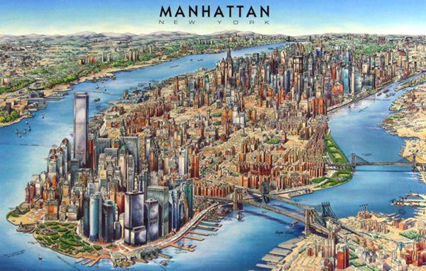 Detailed 3d Map Of Manhattan Free Download Detailed 3d Map Of Manhattan Manhattan Map Manhattan New York New York