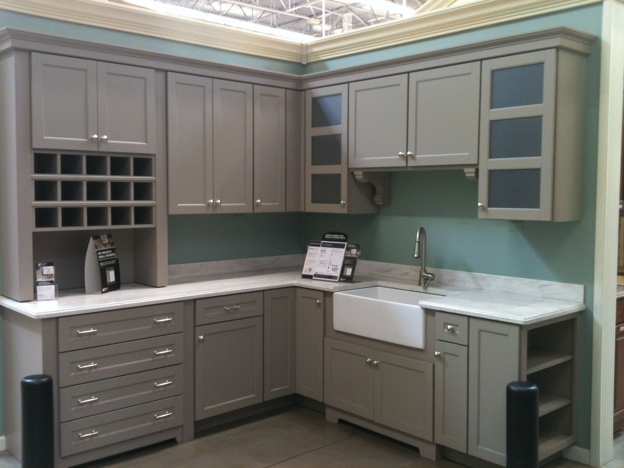 martha stewart cabinets from home depot. like the shelves on the