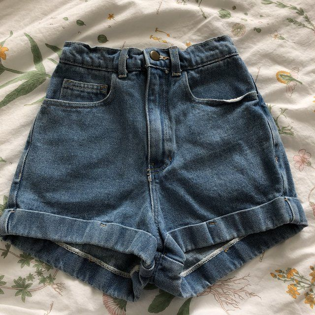 cf3fa790ba american apparel high waisted shorts! never worn, it's not my style anymore  unfortunately. it's a size 24! price is negotiable but please don't lowball!