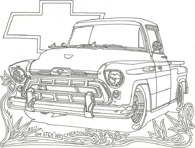 Chevrolet Truck Coloring Pages Cars Coloring Pages Truck