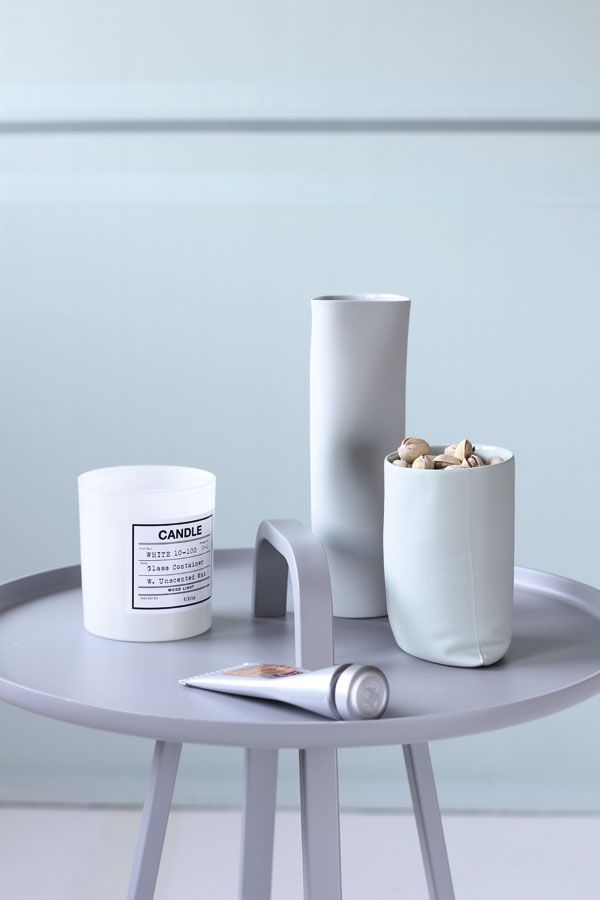 Mini table Tod from Montis handle  Pottery jars designed by Margit Seland, Norway Designs.