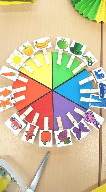 Colours Vorschulegeschenk Vorschulemontessoriselbst Montessori Material Selber Machen Kindergarten Projekt Farben Kindergarten Basteln Für Kindergärtner
