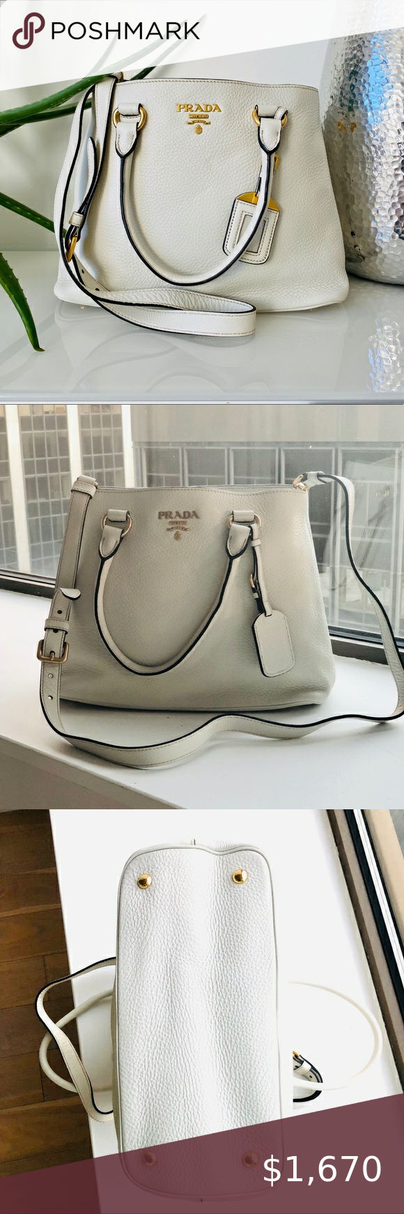 Photo of New Prada Vitello Phenix Handbag This item has original tags and shows no visibl…