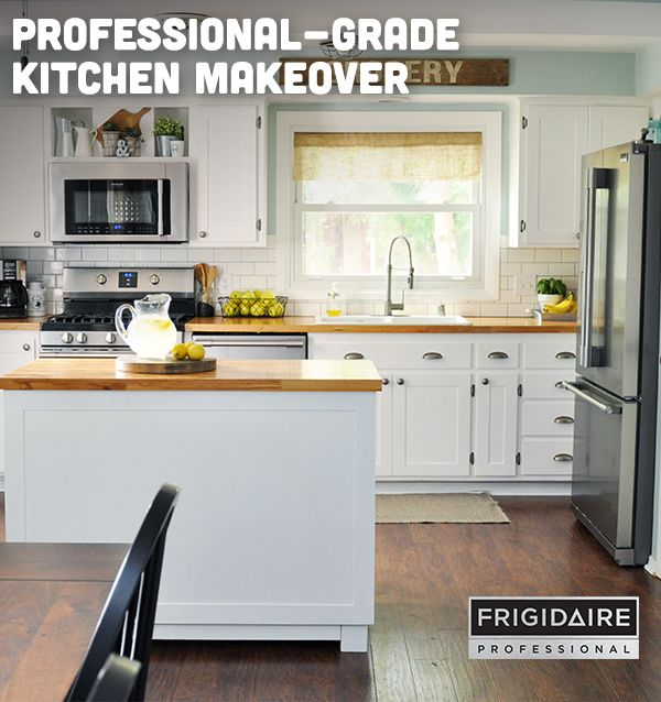 Cherishedbliss Upgraded Her Kitchen With The Frigidaire Professional Appliance Collection Kitchen Remodel Small Kitchen Remodel Industrial Decor Living Room