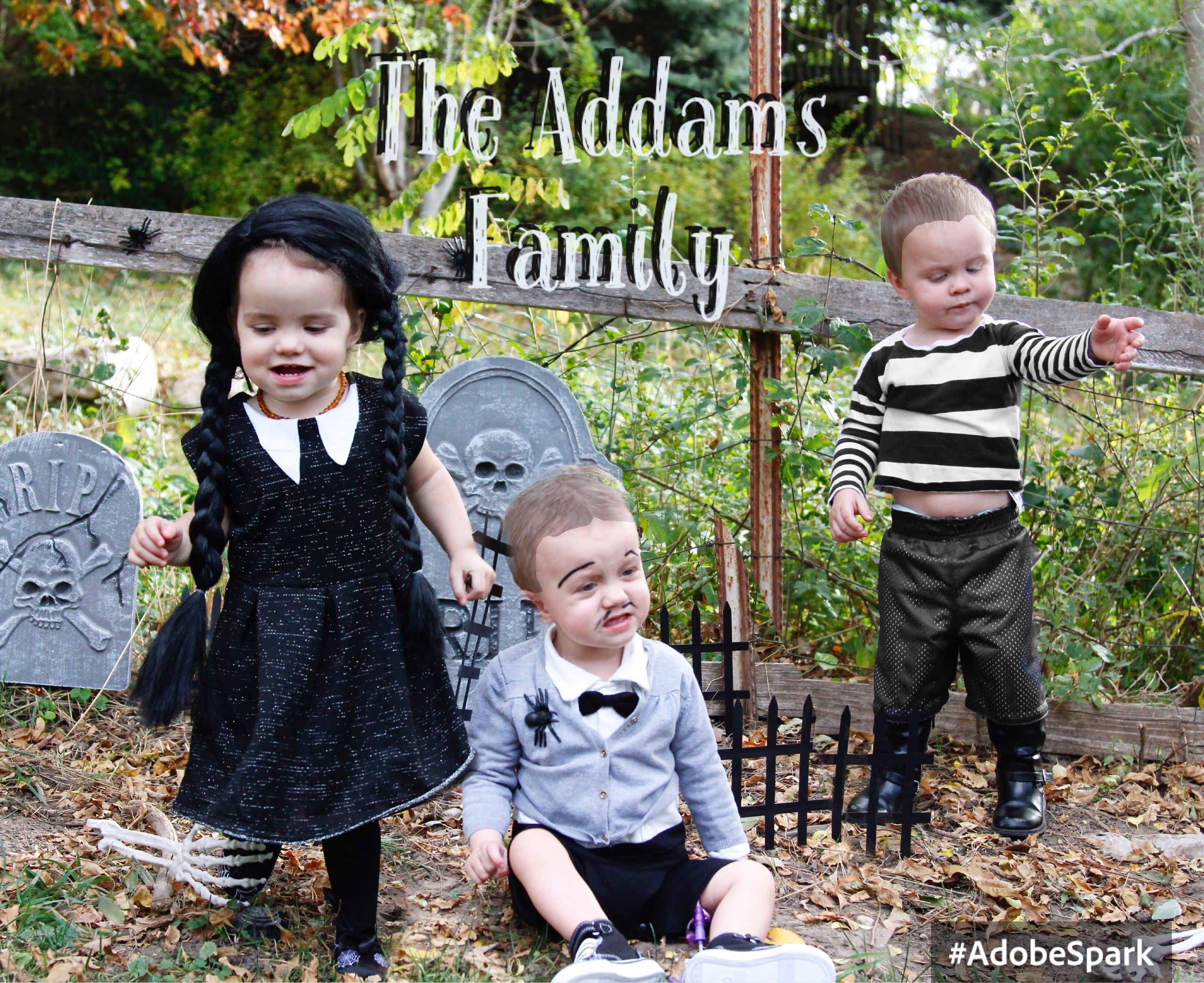 The Addams Family triplet Halloween costumes.   Holidays   Pinterest ...