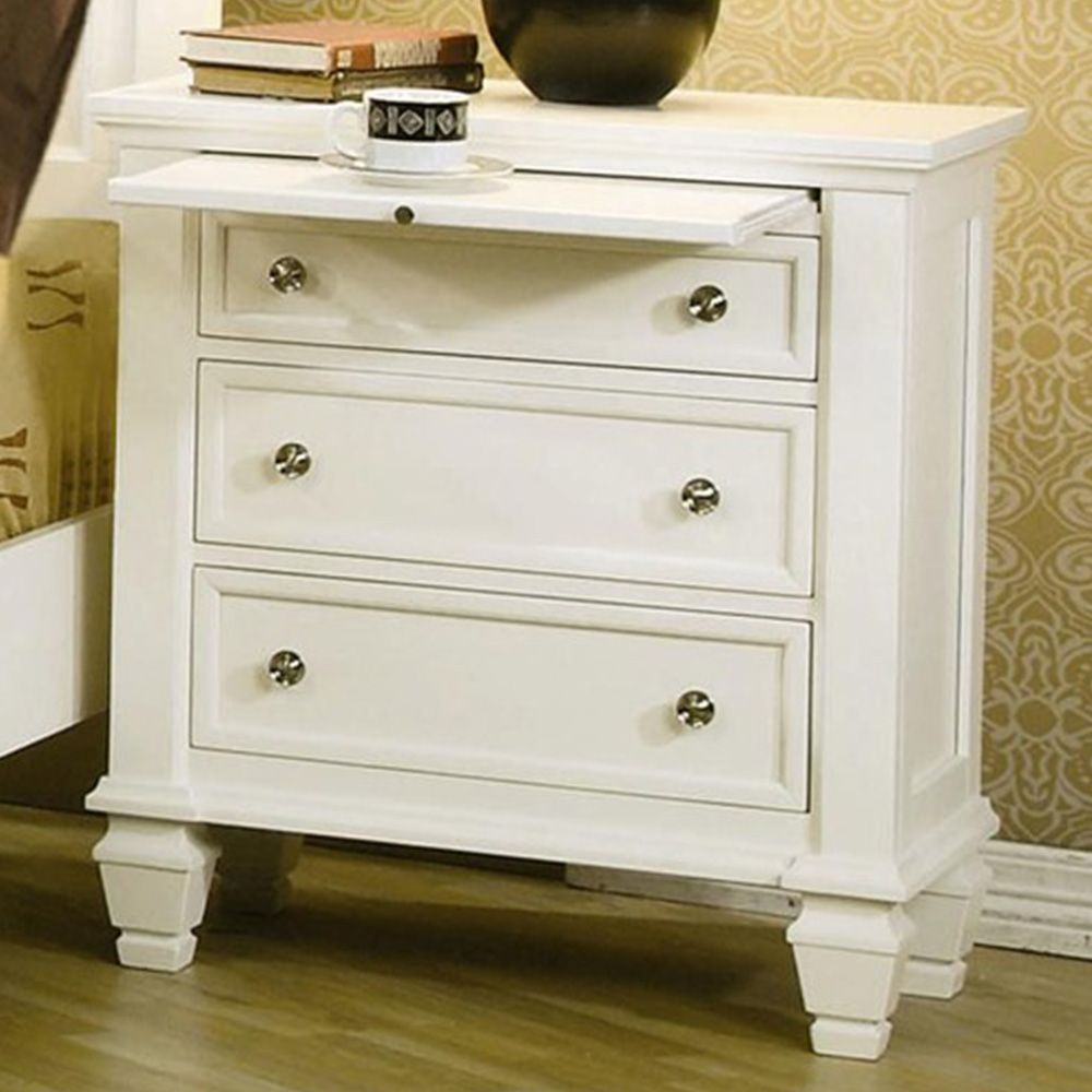 Coaster Sandy Beach Night Stand In White Bedroom Collection The Will Infuse Your Master Decor