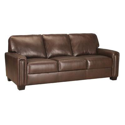 World Class Furniture Mathew Leather Sofa $1,599 | Style Cents ...