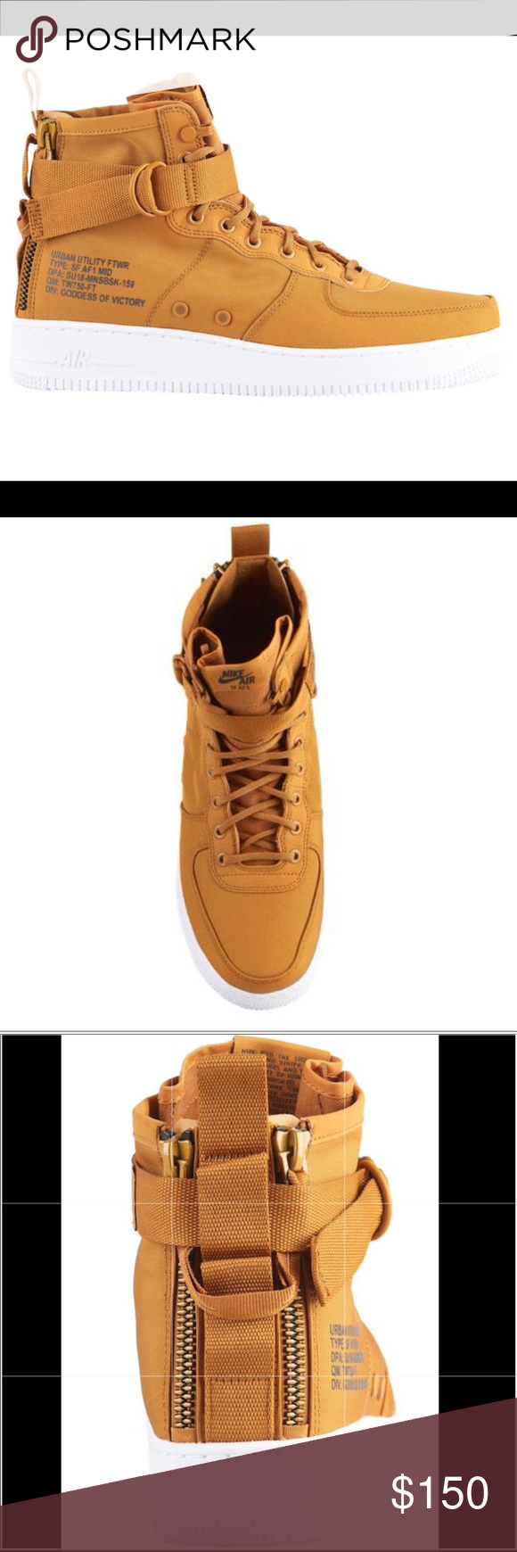 check out ce4e3 ce6b4 Nike SF Air Force 1 Mid Nike SF Air Force 1 Mid 'Desert Ochre' / Sequoia  White. New but no box size 10.5 Sku 917753 700 Designed by Bruce Kilgore Nike  Shoes ...