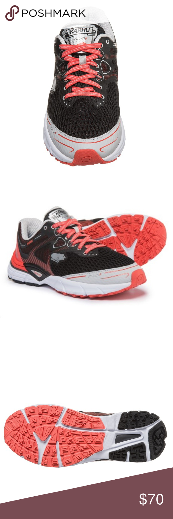 10dde6dfead416 Karhu Women Fluid 5 MRE Running Shoes Three-phase Fulcrum technology  transitions heel pressure into