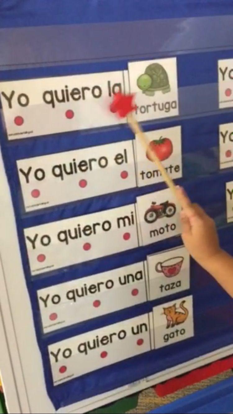 Este Producto Te Brindara La Facilidad De Hacer Muchas Actividades Con Tus Est Spanish Teaching Resources Spanish Immersion Kindergarten Bilingual Kindergarten