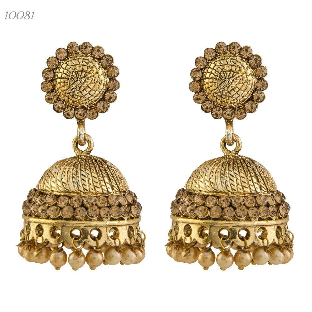 Indian Fashion Jewelry Bollywood Bridal Gold Plated Cz: Indian Jewellery Antique Gold Plated Designer CZ Diamond