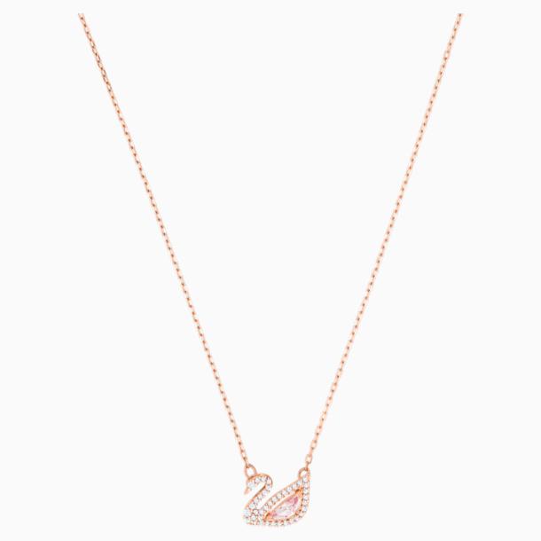 Collier Dazzling Swan, multicolore, Métal doré rose par SWAROVSKI