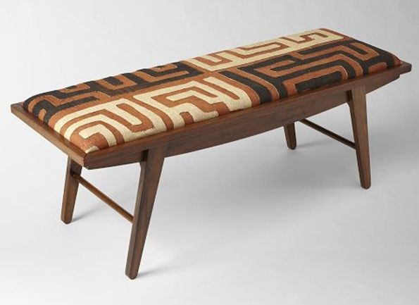 #Kuba Cloth Bench From West Elm