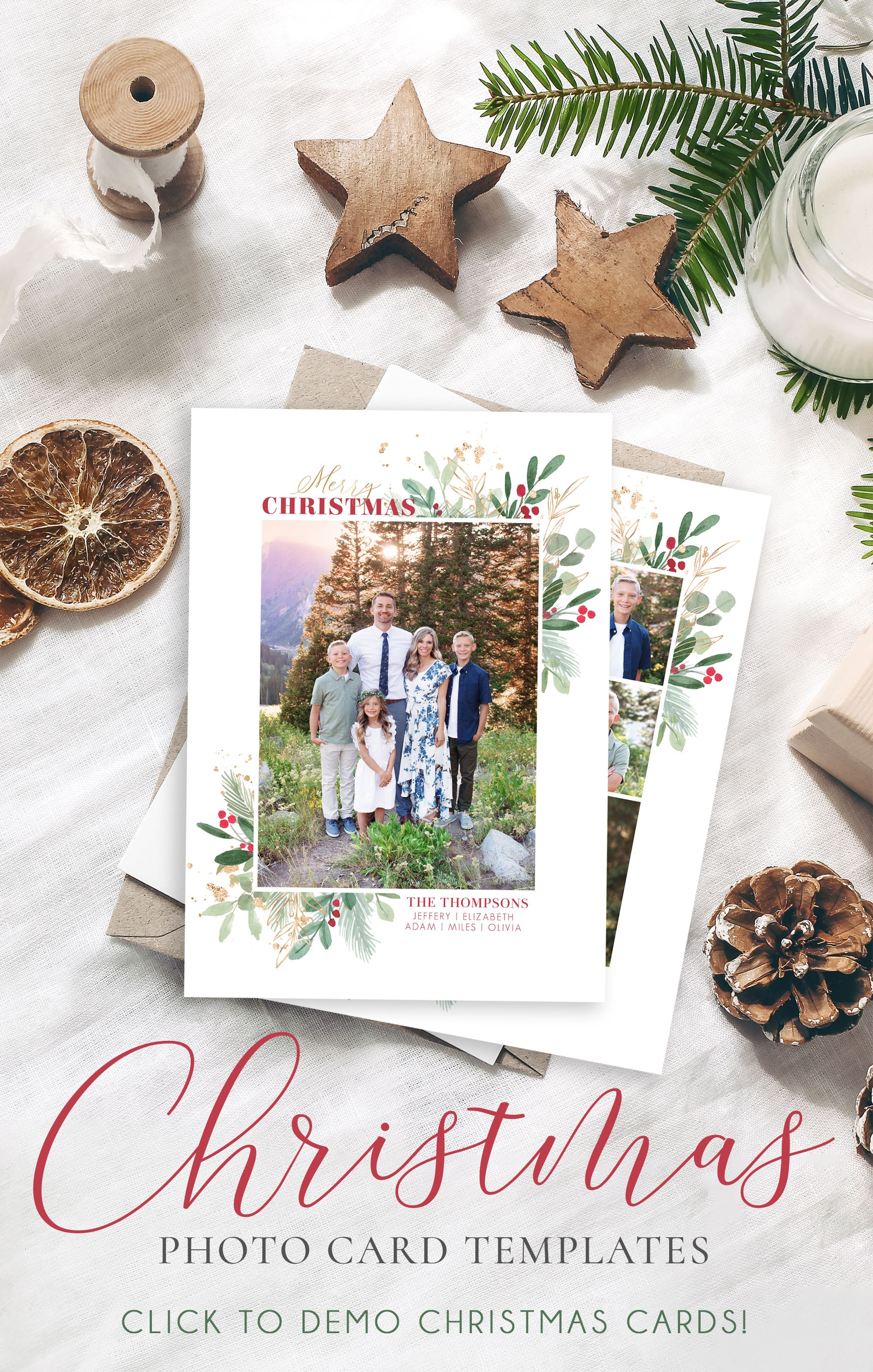 Christmas Card Template Christmas Cards Template 5x7 Photo Etsy Christmas Card Template Holiday Card Template Printable Holiday Card