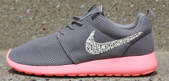 Sparkle Shoes Nike Roshe Run SOFT GREY MIDNIGHT FOG TOTAL