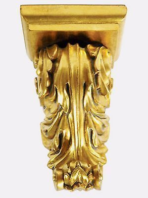Gold Gilt Acanthus Wall Sconce 13.5 inches Tall