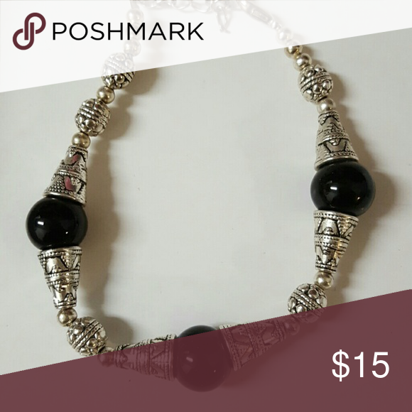 ec6794b3ad Selling this Silver black bracelet on Poshmark! My username is: lucylue3.  #shopmycloset #poshmark #fashion #shopping #style #forsale #Jewelry