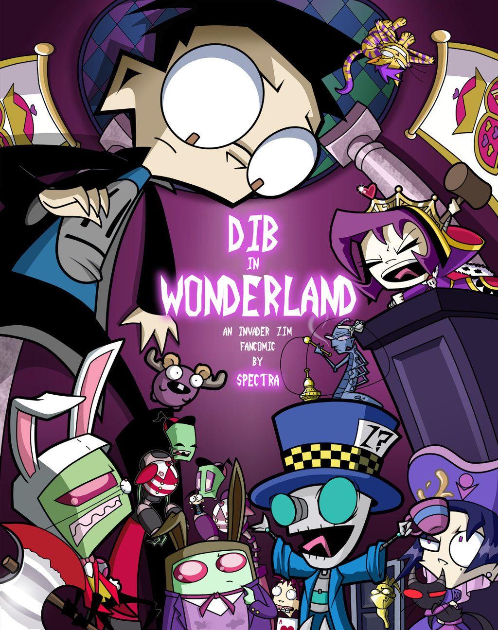 Invader Zim Fan Comics Dib in Wonderland Comi...