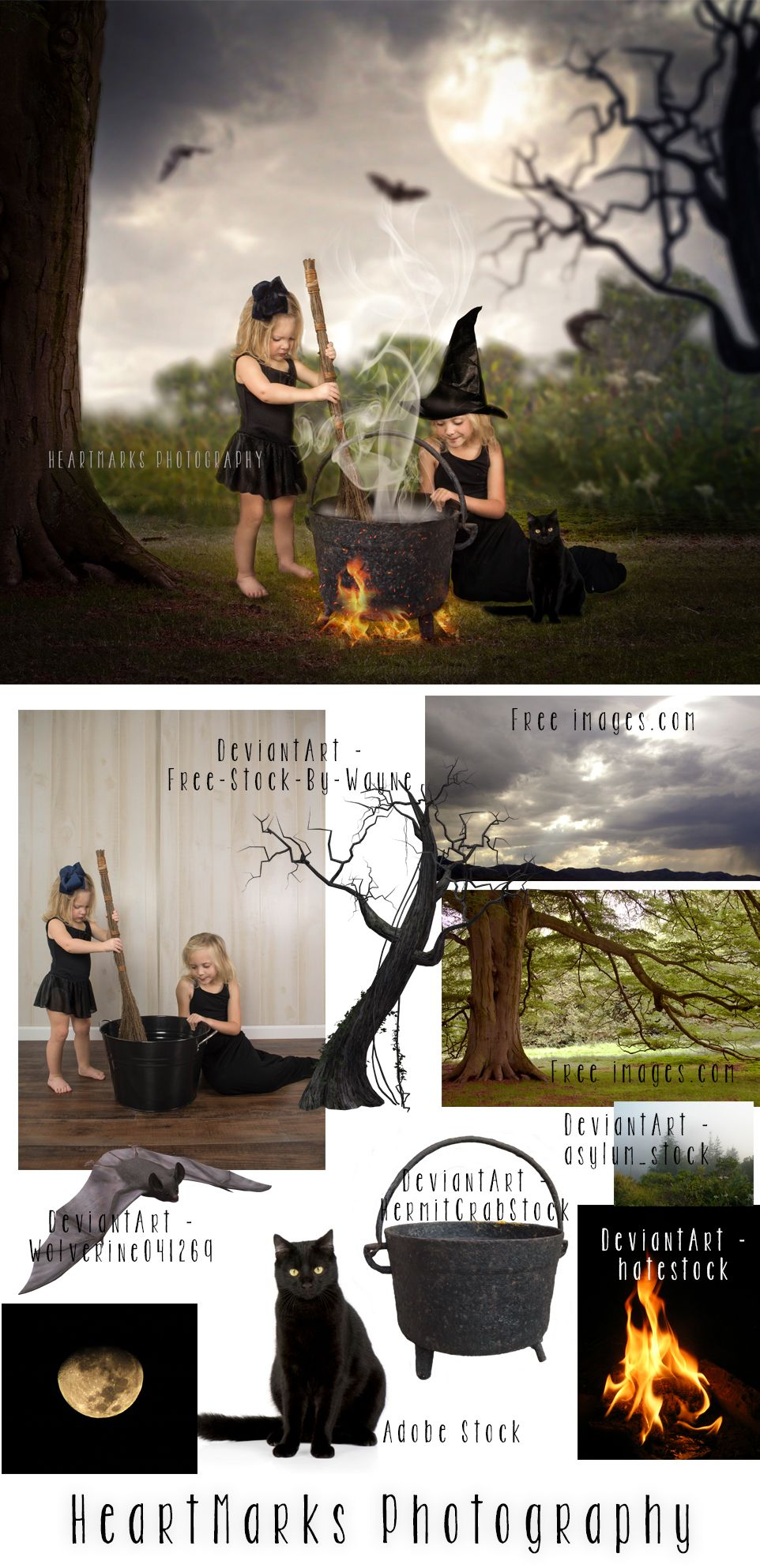 Halloween forest by heartmarks photography halloween composite halloween forest by heartmarks photography halloween composite tutorial with tara lesher photography photoshop composite halloween costume baditri Images