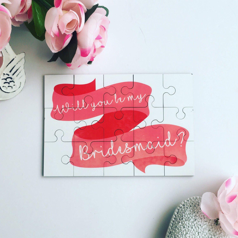 Will You Be My Bridesmaid Gift, Personalised Jigsaw, Bridesmaid ...