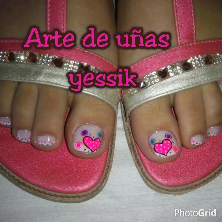 Hearts | Nails | Pinterest | Pedicures, Toe nail designs and Manicure