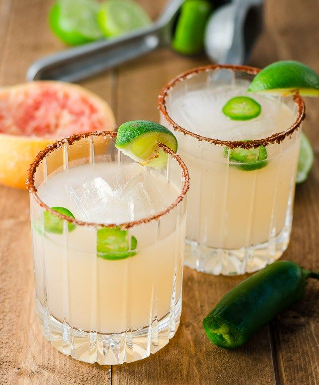 This spicy paloma is easy to make with a little jalapeno simple syrup, or a pepper-infused tequila – plus it goes down super smooth with any Mexican food!