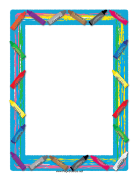 This Cheery Border Includes A Box Full Of Colorful Crayons In All The Colors Of The Rainbow And Then Som Clip Art Freebies Borders For Paper Scrapbook Borders
