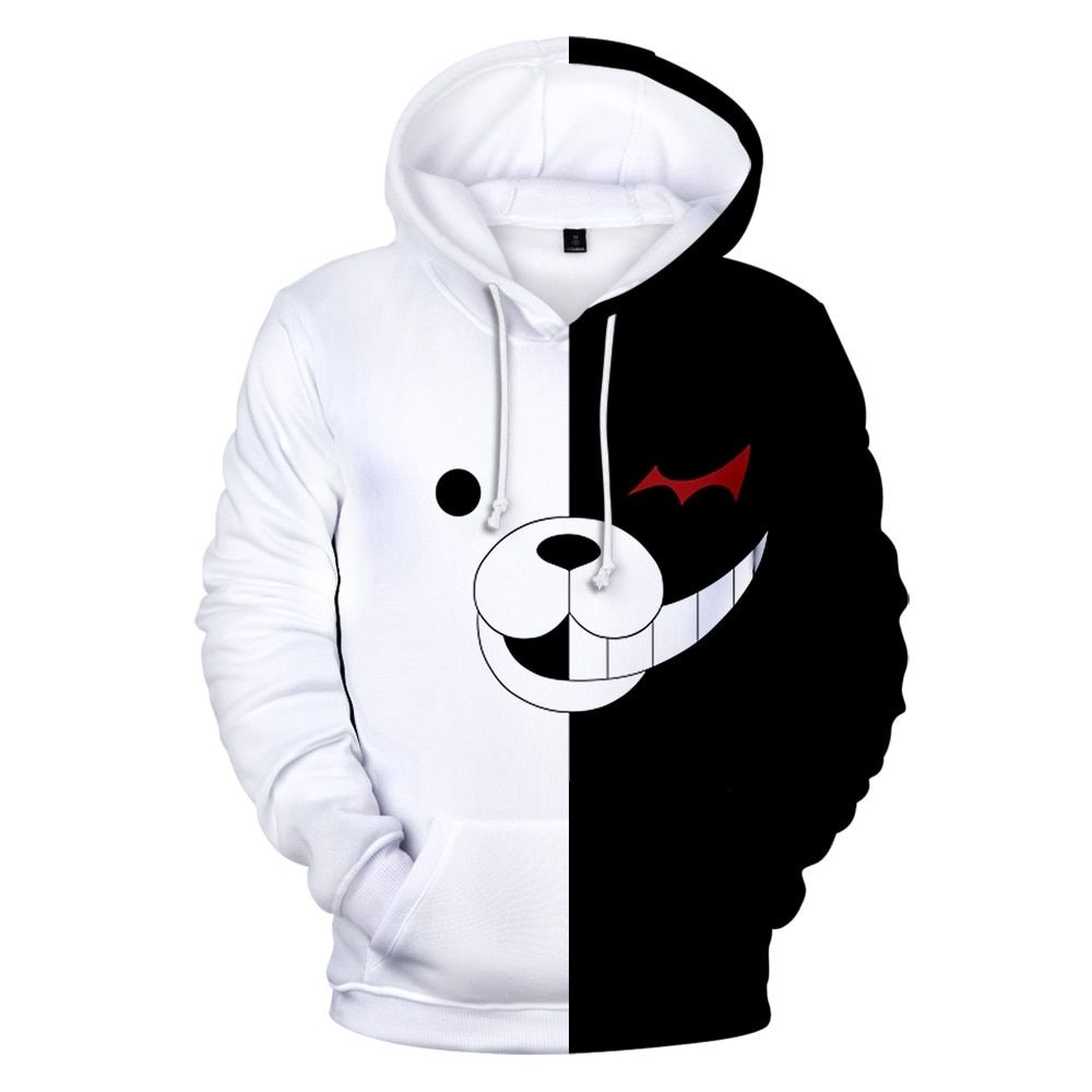 Anime Danganronpa Monokuma Cosplay Costume Halloween Costume Hoodie Coat Jacket for Women Men