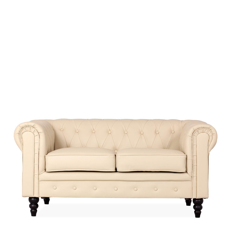 Sof chester de dos plazas tapizado en polipiel estilo capiton relleno de espuma de alta - Relleno de sofas ...