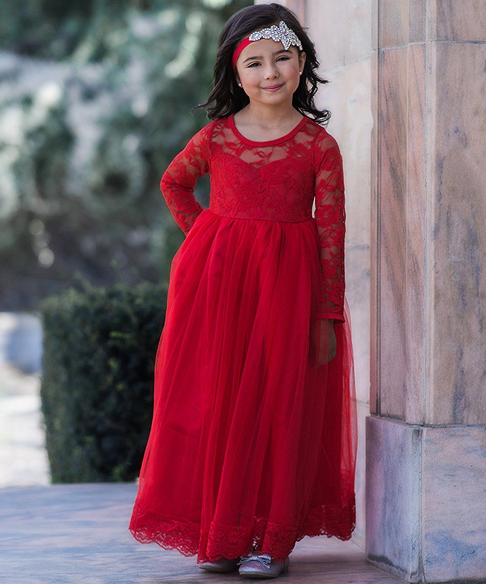 Love this just couture red isabelle maxi dress toddler u girls