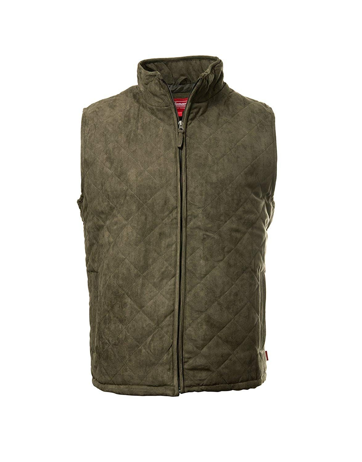 Coleman Suede Quilted Snap Front Large Jackets Mens Jackets