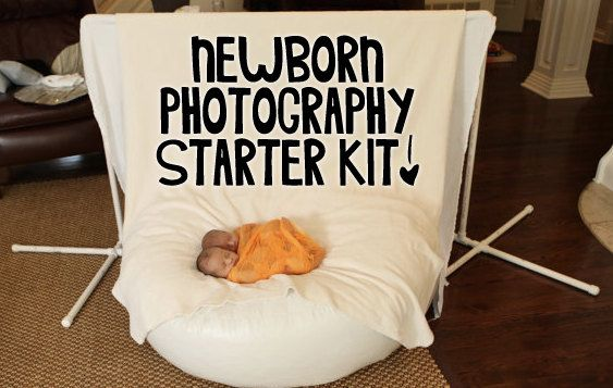 Newborn photography starter kit includes backdrop stand and baby beanbag great for on location photographers or simple studio set ups 155 00 via etsy