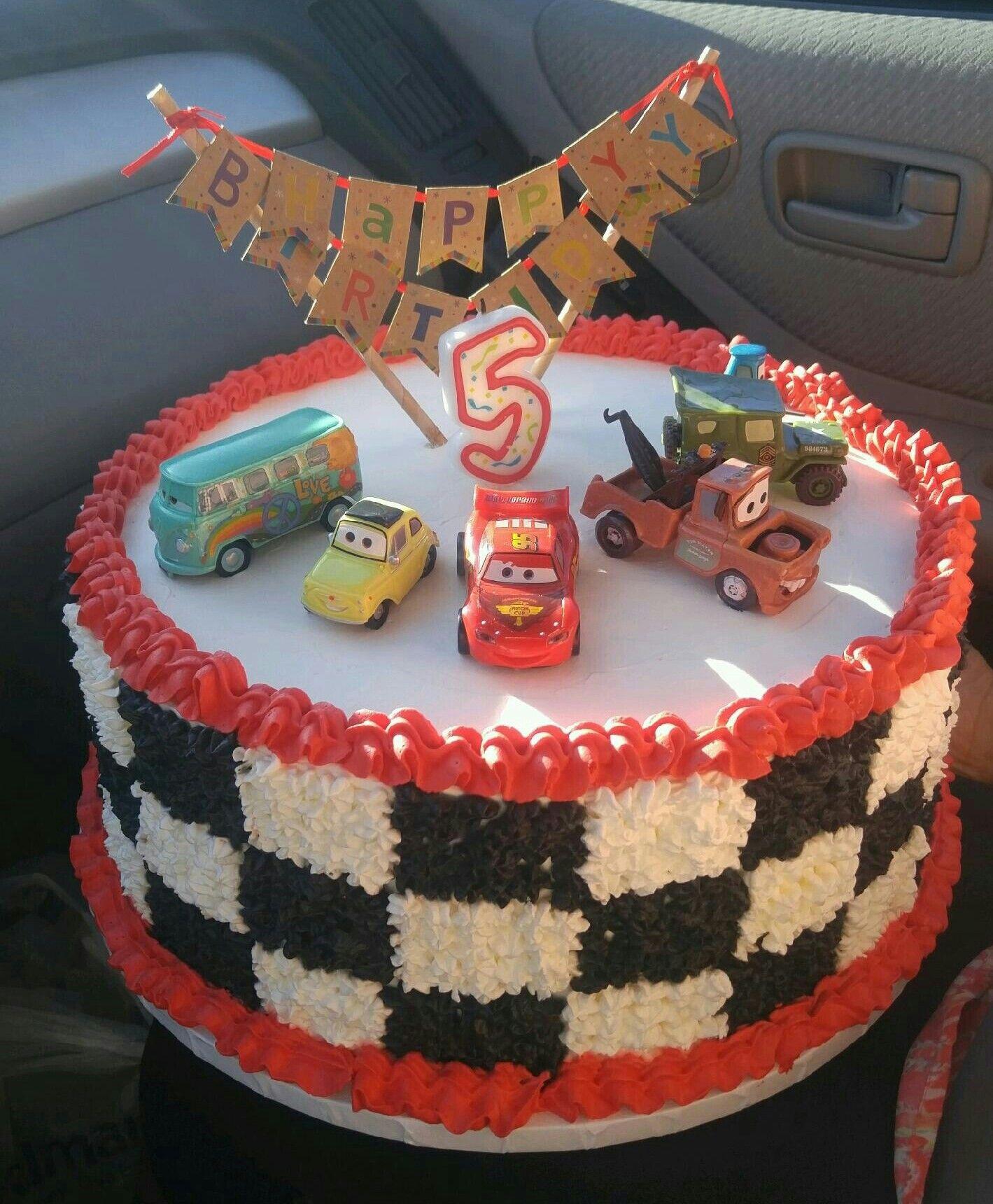 Car Truck Theme Cream Cake