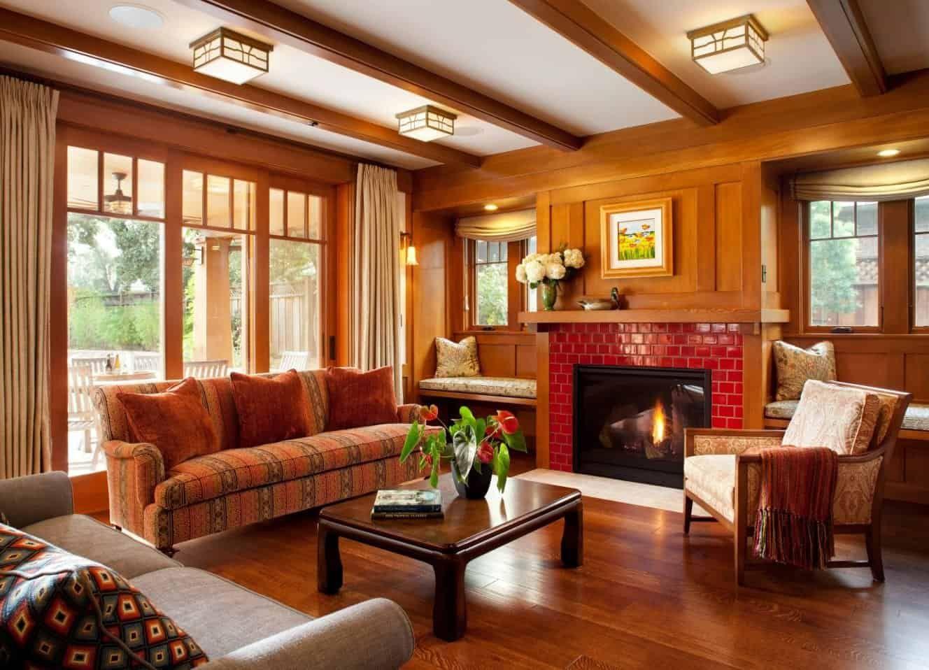40 Craftsman-Style Living Room Ideas (Photos) | Craftsman ...