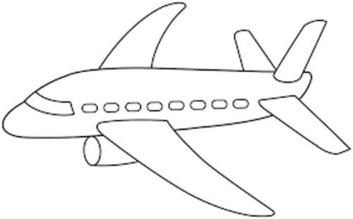 Easy Preschool Coloring Pages Airplane Coloring Pages Preschool Coloring Pages Free Printable Coloring Pages