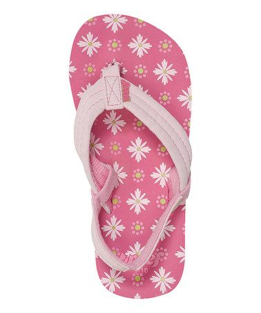 69fbe718c440f2 Take a look at this Pink Flowers Little Ahi Flip-Flop by Reef on  zulily  today!