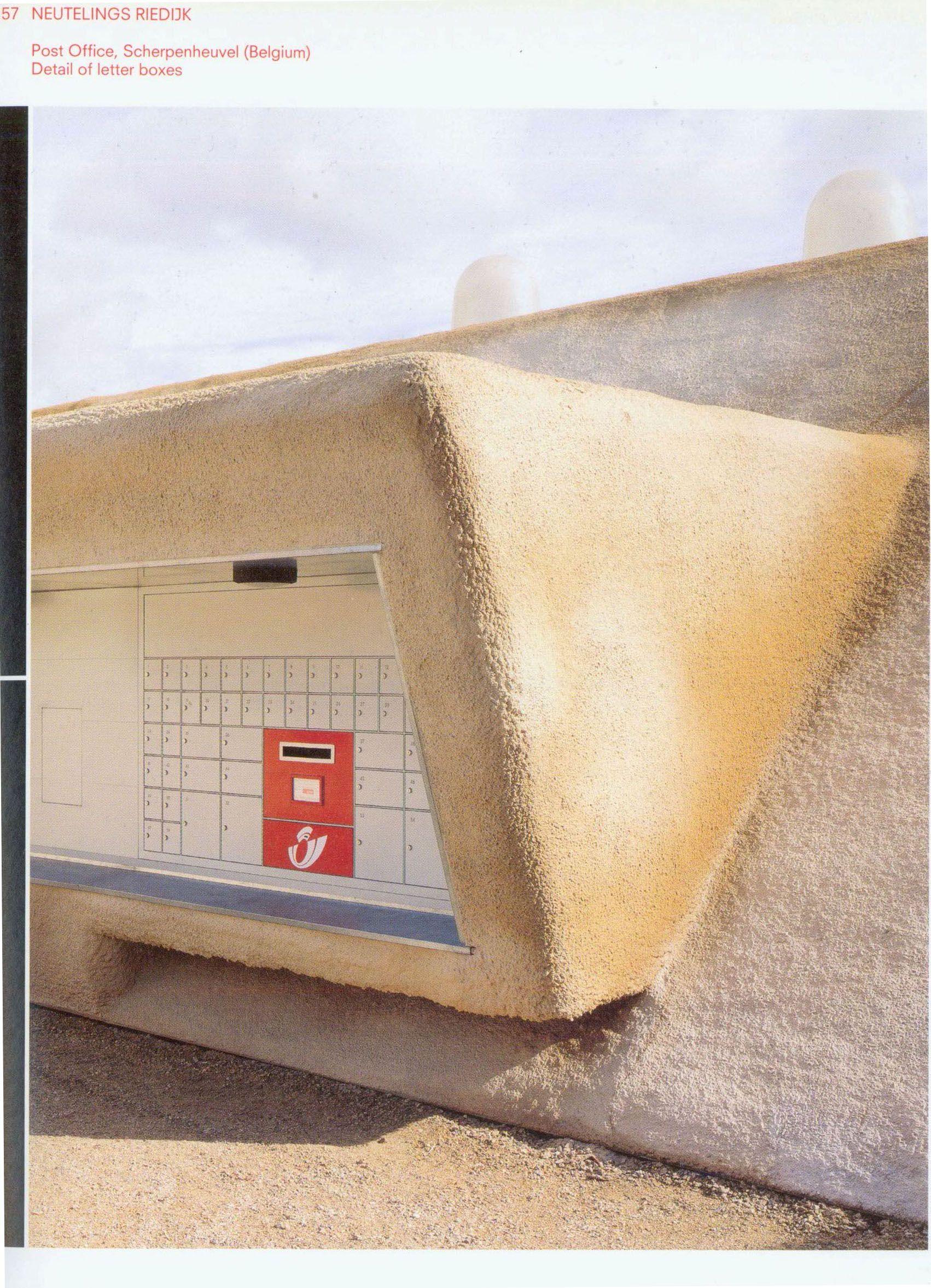 Neutelings Riedijk Post Office Scherpenheuvel Belgium Post Office Belgium Architecture